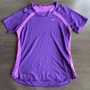 Nike Dri Fit Dark Purple TShirt Medium
